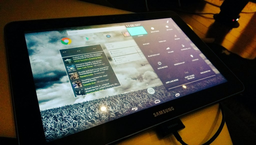 Omnirom on Samsung tablet